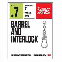 Вертлюги LUCKY JOHN c застеж. LJ Pro Series BARREL AND INTERLOCK Black 016 10шт.